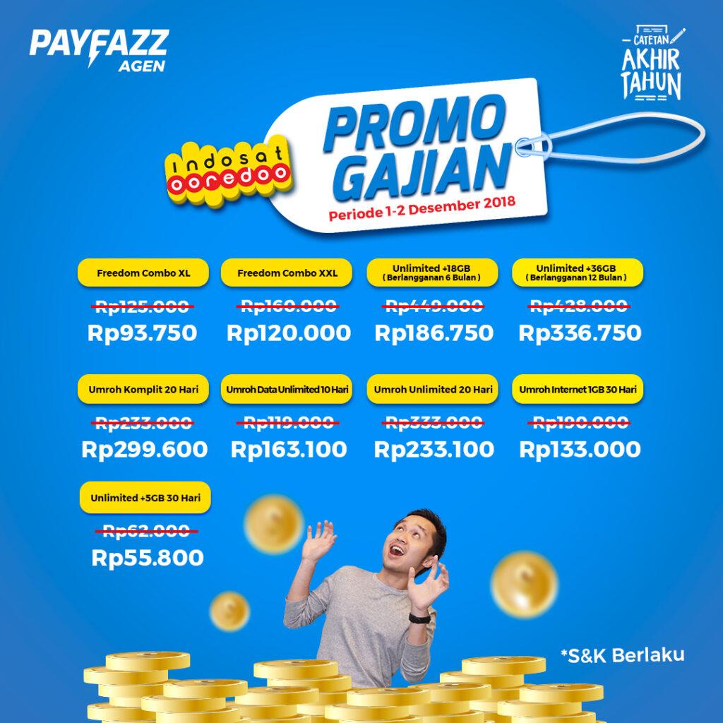 Promo Gajian Indosat dari PAYFAZZ