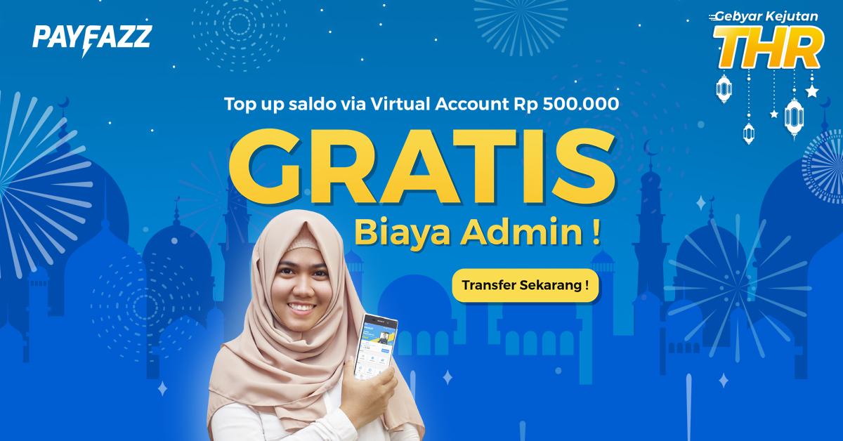 Kejutan THR Ramadhan Top up Saldo GRATIS Biaya Admin