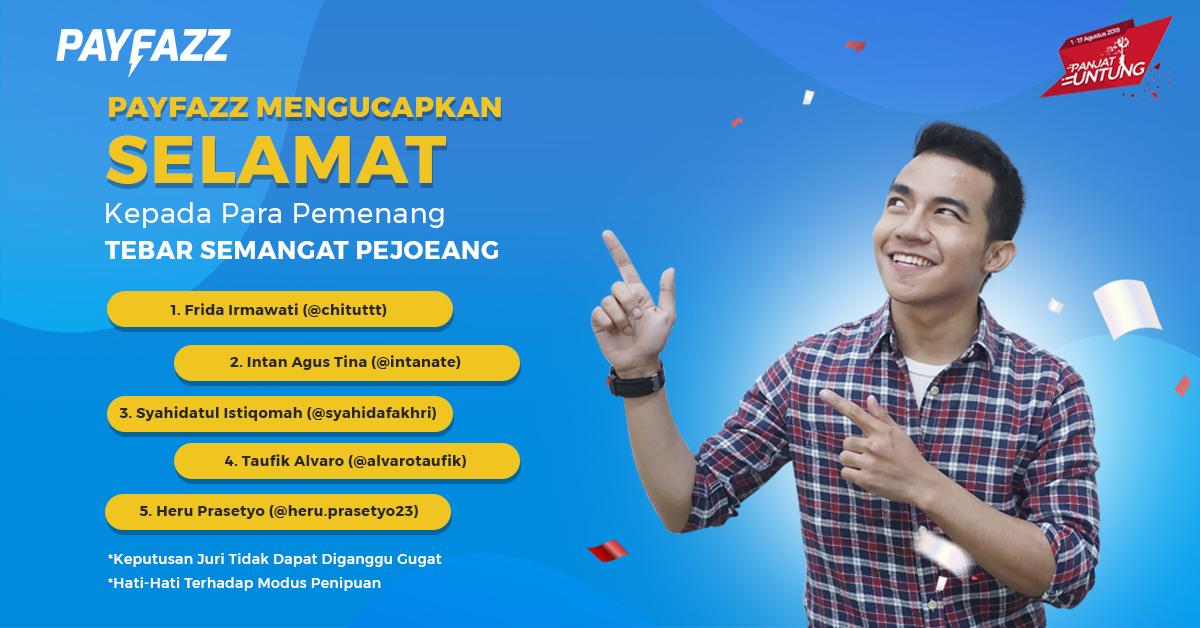 Pemenang Repost Banner Tebar Semangat Pejoeang!