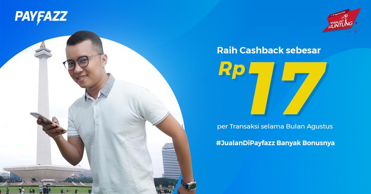 Cashback tambahan Rp 17,- hanya untuk Kamu!