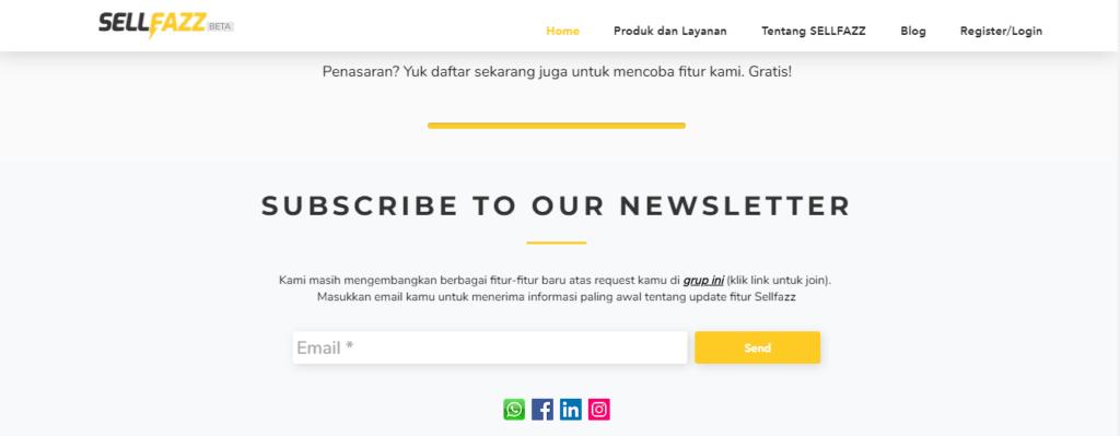 Sellfazz kasih Tips Jualan Gratis buat kamu yang Berlangganan via Email