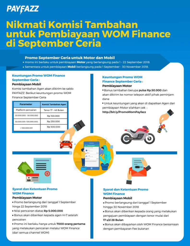 Nikmati Komisi Tambahan untuk Pembiayaan WOM Finance di September Ceria
