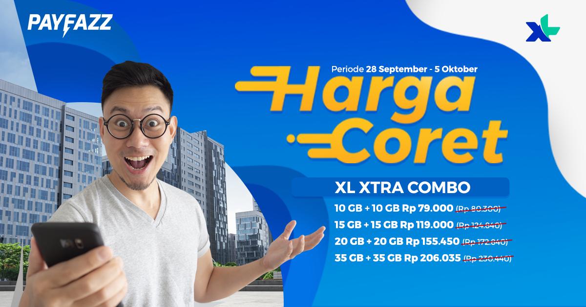 Harga Super Murah Promo Gajian Produk XL XTRA Combo!