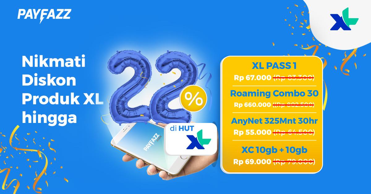 Rayakan HUT XL ke 22 dengan Super Diskon Hingga 22%!