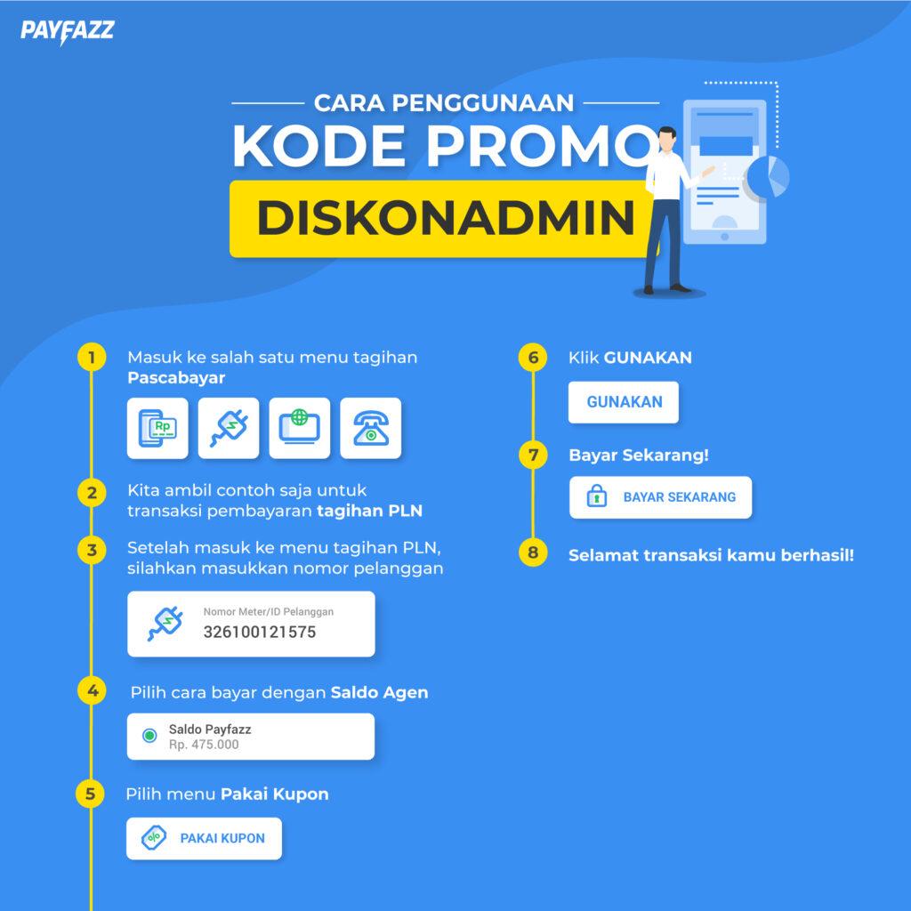 Cara Menggunakan Kode Promo DISKONADMIN PAYFAZZ