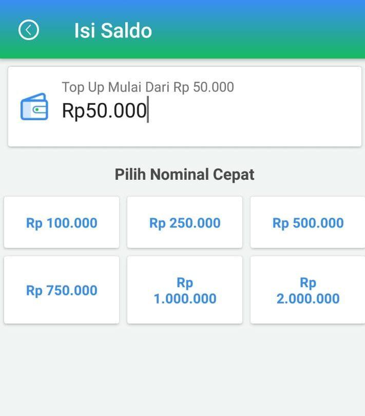 KABAR GEMBIRA! Limit Top Up Saldo Agen Kini Menjadi Rp50.000,-!