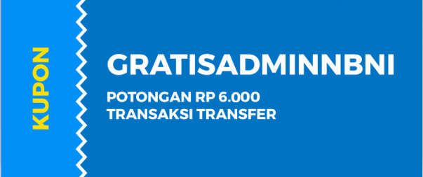 Kupon Transfer Dana ke Non-Bank BNI Promo Gajian April KUAT