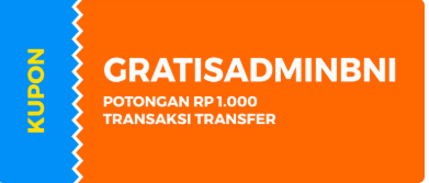 Kupon Transfer Dana ke Bank BNI Promo Gajian April KUAT