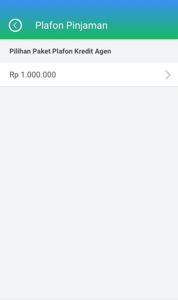 Fitur Kredit Agen - Plafon Pinjaman