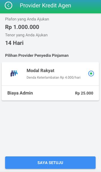 Fitur Kredit Agen - Provider