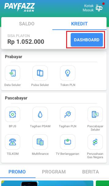 Fitur Kredit Agen - Dashboard
