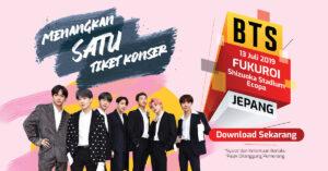Menangkan 1 Tiket Konser BTS Gratis di Jepang Melalui FAZZCARD!