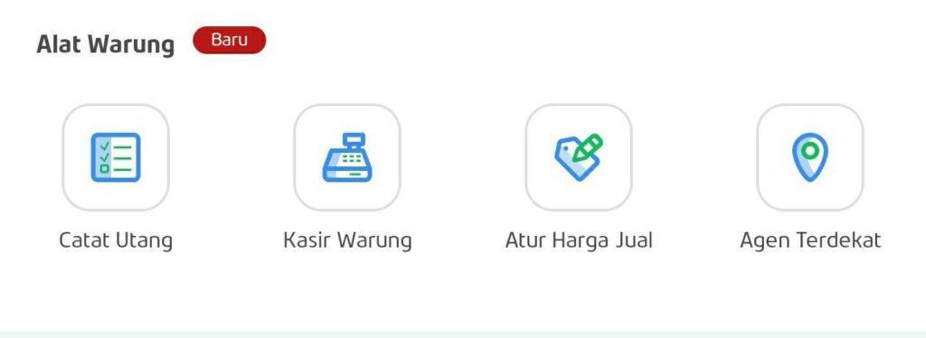 Menu Alat Warung di Aplikasi PAYFAZZ