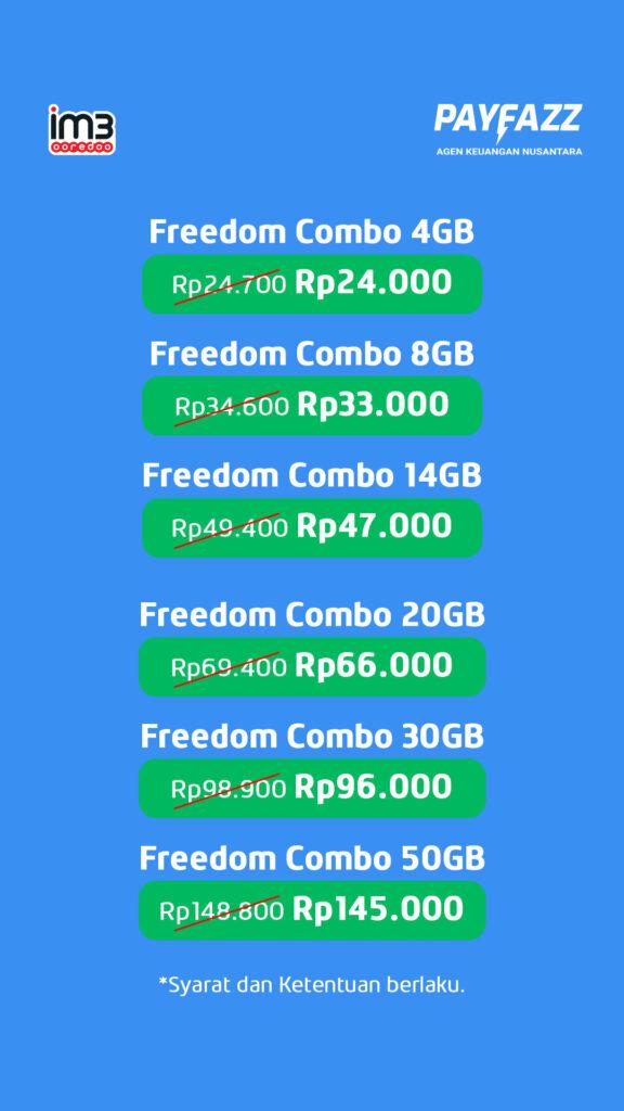 Daftar Paket Indosat Freedom Combo Promo Happy Weekend