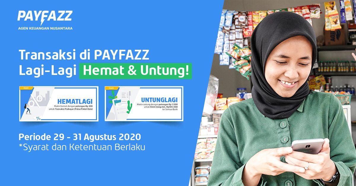 Transaksi Prabayar dan Kirim Uang di PAYFAZZ Hemat & Untung Lagi!