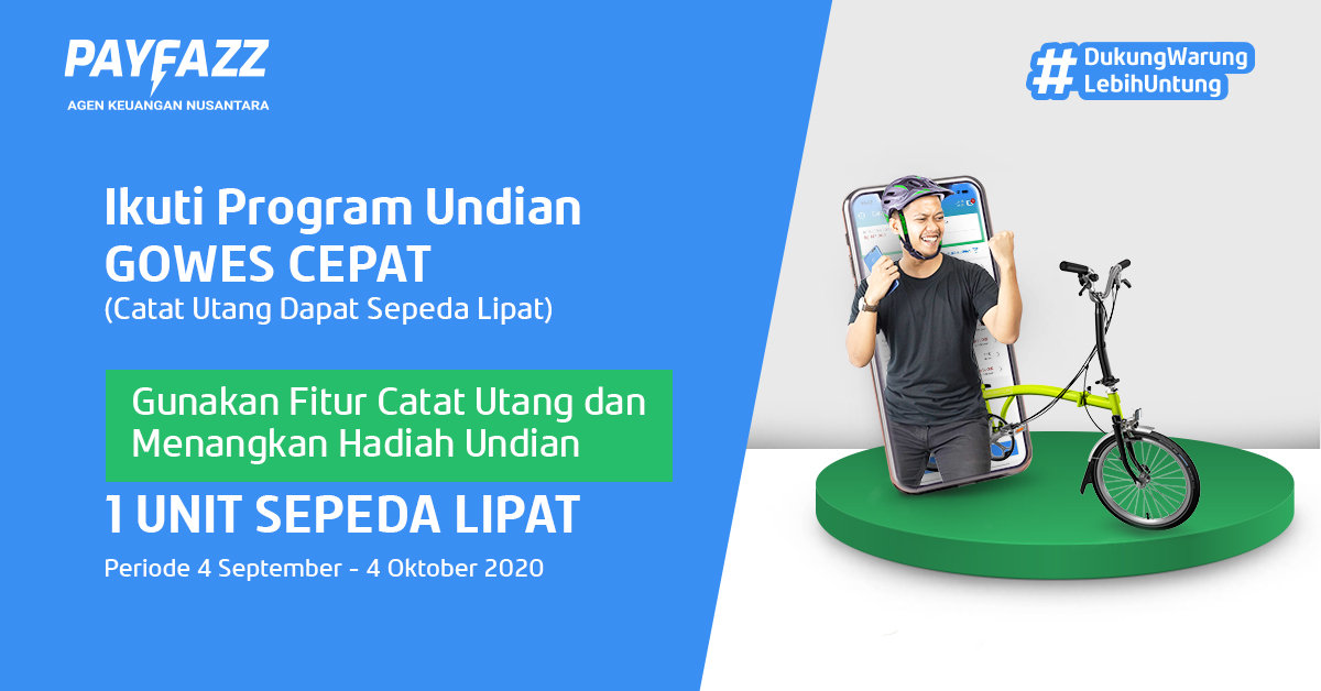Program Undian GOWES CEPAT PAYFAZZ Berhadiah 1 Sepeda Lipat