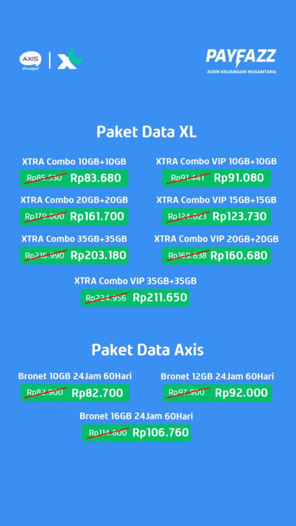Daftar Produk Paket XL dan Axis Pilihan Promo 11-20 September