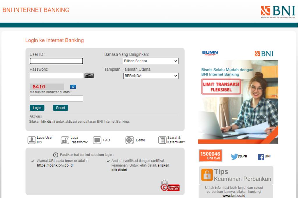 Cara Daftar BNI Internet Banking