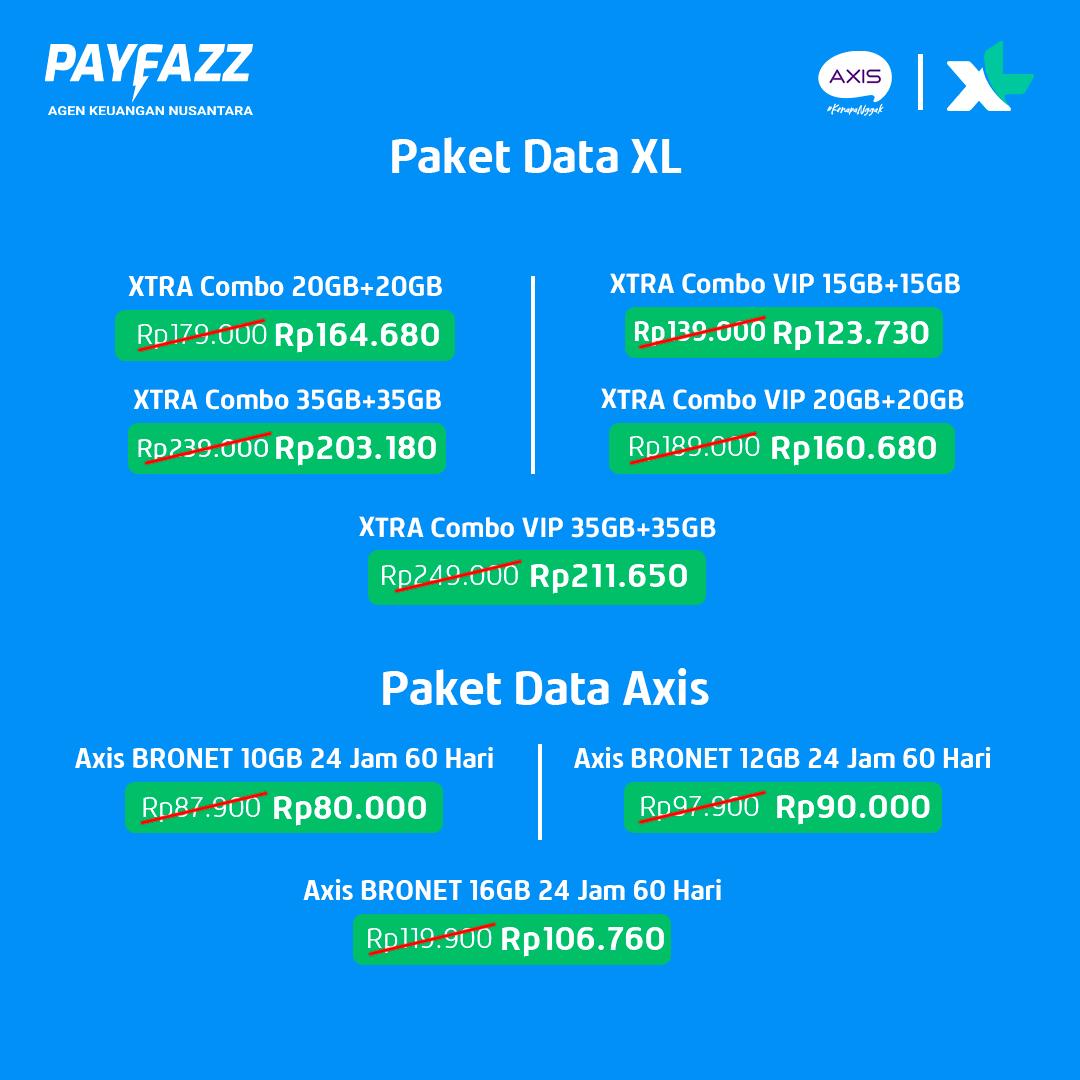 Potongan hingga Rp37.000 Bikin Transaksi Paket Data XL dan Axis Makin Murah!