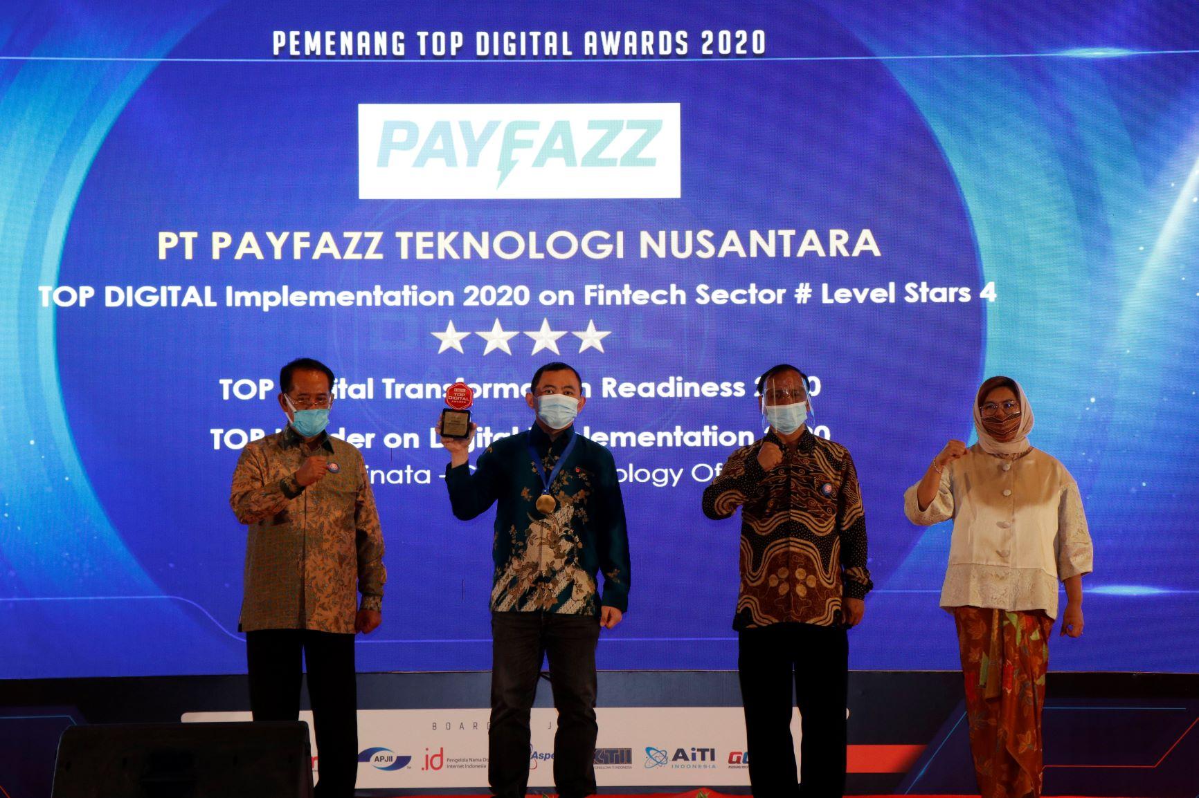 PAYFAZZ Raih Tiga Penghargaan dalam Ajang TOP Digital Award 2020