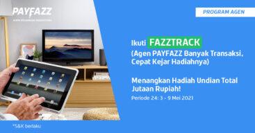 Menangkan 2 Tablet & 2 Smart TV dengan Transaksi PPOB di FAZZTRACK Periode 24