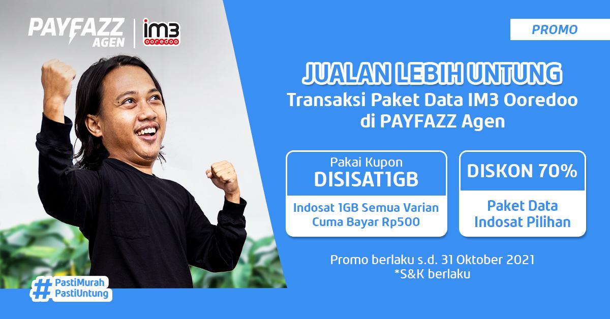 Produk Indosat di PAYFAZZ Agen DISKON 70% & Ada yang Cuma Rp500!