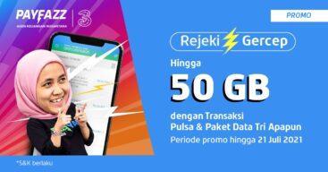 Promo Tri Rejeki Gercep, Bisa Nikmati Bonus Kuota hingga 50GB
