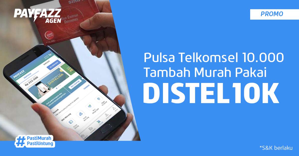 Beli Pulsa Telkomsel Pasti Untung dengan DISTEL10K