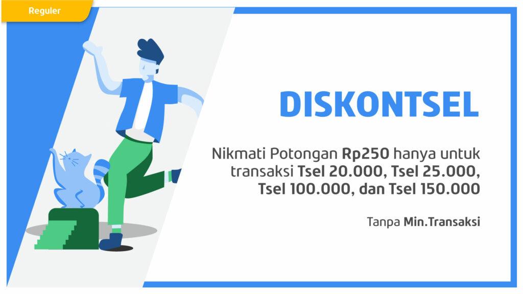 Potongan Spesial Rp250 Pulsa Telkomsel Pilihan Pakai Kupon DISKONTSEL